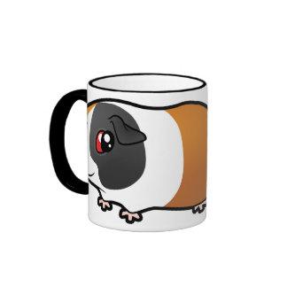 Conejillo de Indias del dibujo animado (pelo liso) Taza