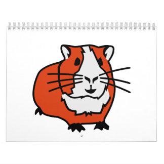 Conejillo de Indias del hámster Calendario De Pared