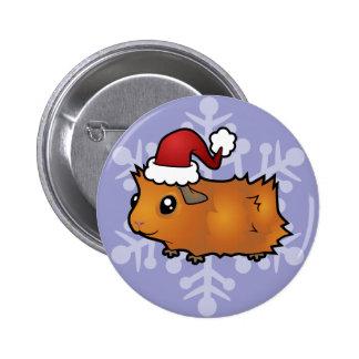 Conejillo de Indias del navidad (desaliñado) Pin Redondo 5 Cm