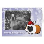 Conejillo de Indias del navidad (pelo liso) Felicitacion