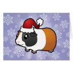 Conejillo de Indias del navidad (pelo liso) Tarjeta