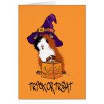 Conejillo de Indias Halloween Felicitacion