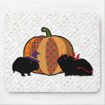 Conejillo de Indias Halloween Tapetes De Ratón