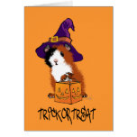 Conejillo de Indias Halloween Tarjeta De Felicitación