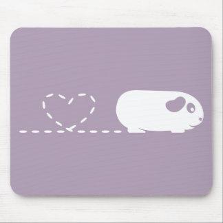 Conejillo de Indias Mousemat del corazón de Poopin Tapetes De Ratón