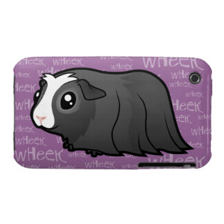 Conejillo de Indias ruidoso (pelo largo) iPhone 3 Cárcasa