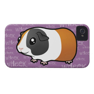 Conejillo de Indias ruidoso (pelo liso) Case-Mate iPhone 4 Cárcasas