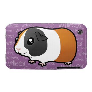 Conejillo de Indias ruidoso (pelo liso) Case-Mate iPhone 3 Coberturas