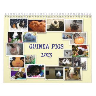 Conejillos de Indias 2013 Calendarios De Pared
