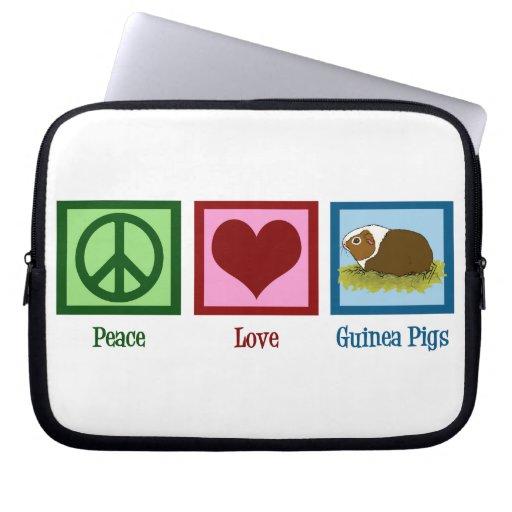 Conejillos de Indias del amor de la paz Fundas Portátiles