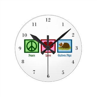 Conejillos de Indias del amor de la paz Relojes
