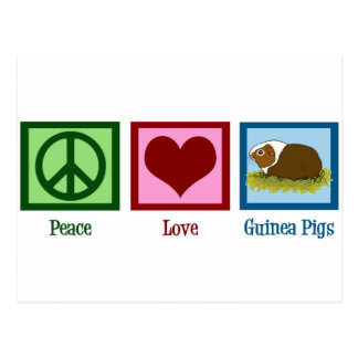 Conejillos de Indias del amor de la paz Postales