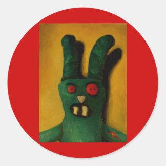 Conejito 1 del zombi de Hoku Pegatina Redonda