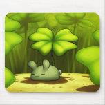 Conejito afortunado Mousepad Tapete De Raton