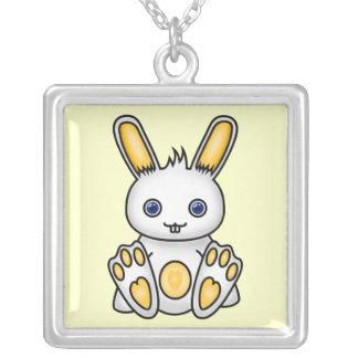 Conejito amarillo de Kawaii Collares Personalizados