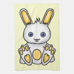 Conejito amarillo de Kawaii Toallas De Mano