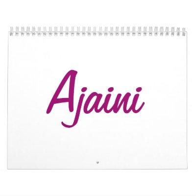 Conejito atractivo Calander de Ajaini Calendario De Pared