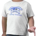 Conejito azul de Kawaii del pirata Camisetas