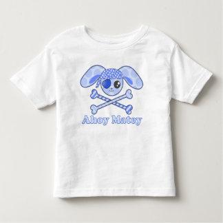 Conejito azul de Kawaii del pirata Playera