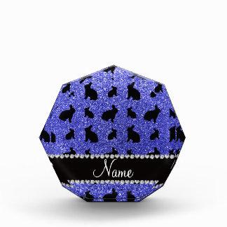 Conejito azul de neón conocido personalizado del b