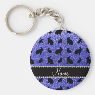 Conejito azul de neón conocido personalizado del b llaveros personalizados