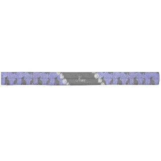 Conejito azul de neón conocido personalizado del banda para el cabello