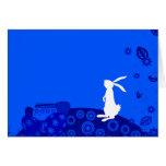 Conejito azul felicitaciones