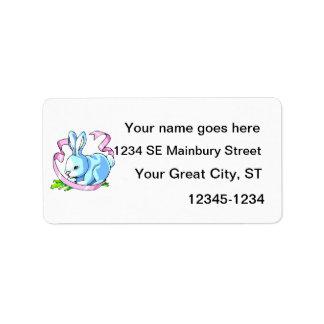 conejito azul ribbon.png púrpura etiqueta de dirección