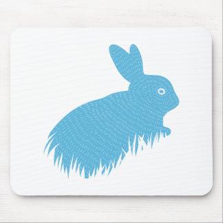 Conejito azul tapete de raton