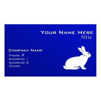 Conejito azul plantillas de tarjeta de negocio