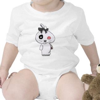 Conejito blanco del Beanbag Trajes De Bebé