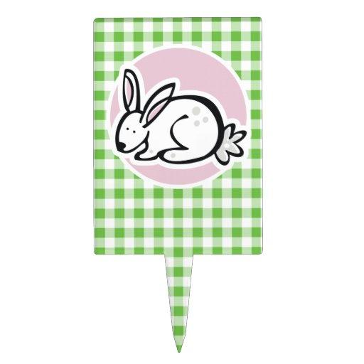 Conejito blanco; Guinga verde Figuras De Tarta