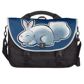Conejito blanco lindo bolsa para ordenador