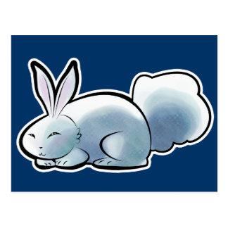 Conejito blanco lindo tarjeta postal