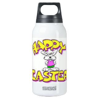 Conejito blanco Pascua feliz