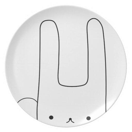 conejito blanco platos para fiestas