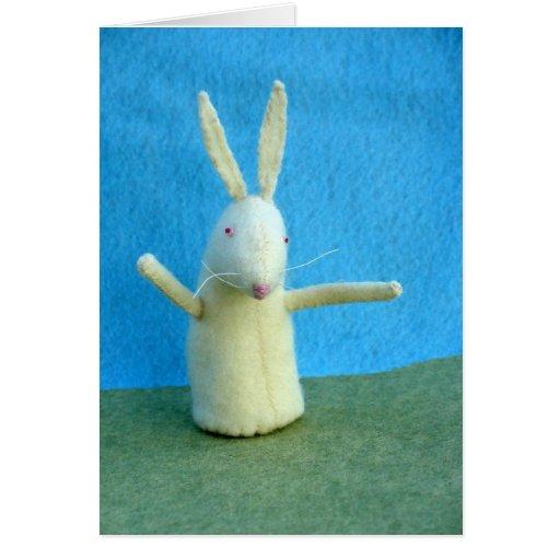 Conejito blanco tarjeta de felicitación
