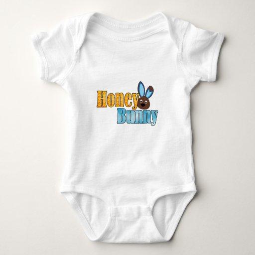 conejito blue.png de la miel mameluco de bebé