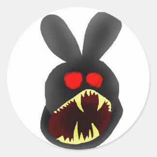 Conejito-cabeza-enojado Etiqueta
