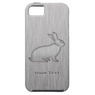 Conejito cepillado de la mirada del metal iPhone 5 carcasa