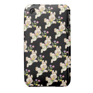 Conejito con el dibujo animado de las flores iPhone 3 Case-Mate funda