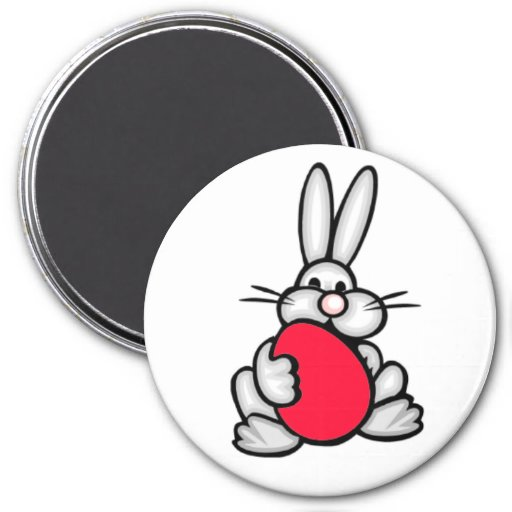 Conejito con el huevo del rojo del escarlata imán de nevera