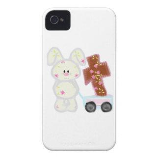 Conejito con la cruz iPhone 4 Case-Mate protectores