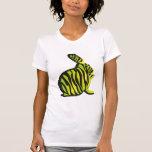 Conejito con las rayas de la cebra camisetas