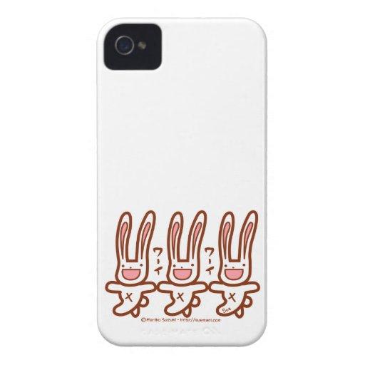 Conejito de Cutie Case-Mate iPhone 4 Carcasas