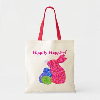 Conejito de Hippity Hoppity pascua y la bolsa de a