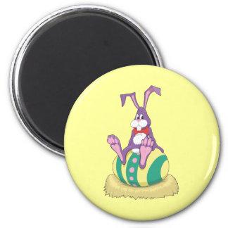 Conejito de Jus Chillin pascua en el huevo Imán Redondo 5 Cm