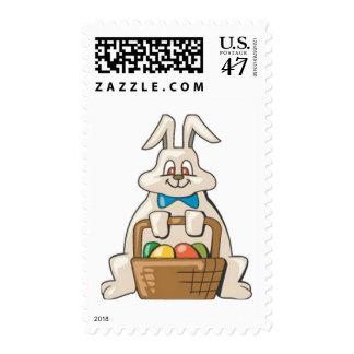 Conejito de la entrega sellos postales