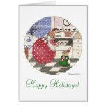 ¡conejito de la hornada buenas fiestas! tarjeta pequeña