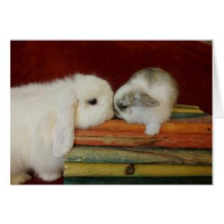 Conejito de la madre y del bebé tarjeta pequeña